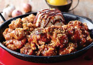 신메뉴-흑마늘 햄 치밥